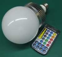 10*1 RGB LED bulb with IR controller;AC 110-240V input;E27 base;
