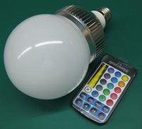 10*1 RGB LED bulb with IR controller;AC 110-240V input;E27 base;