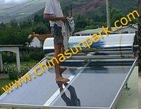 300L+2 pcs solar panel+flat panel solar water heater