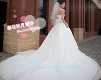 new style luxary weding dress lady dropped wedding dress bridal smearing  gown free shipping