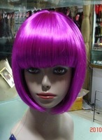 Halloween wig Party wig Cosplay Wigs Rose Red short bobo wigs Carnival Gift Cute 10pcs/lot mix order