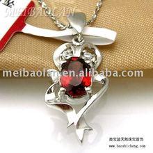 Fashion Jewelry Pendant,Silver Garnet Jewelry(z0507212ags)(China (Mainland))