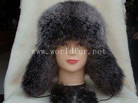 sliver blue fox fur hat fox hat 012