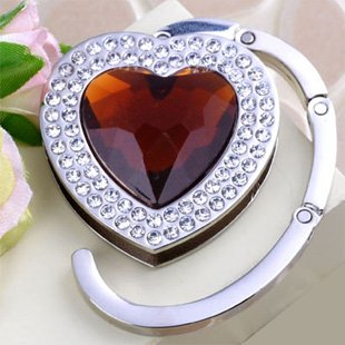 Alloy bag hanger! JC-c001c, coffee heart, holding purse hook, bag hanger, promotion gift