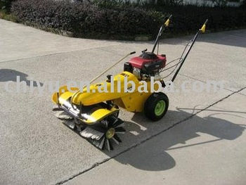 factory sweeper (cleaning saw dust wastepaper with collect box)