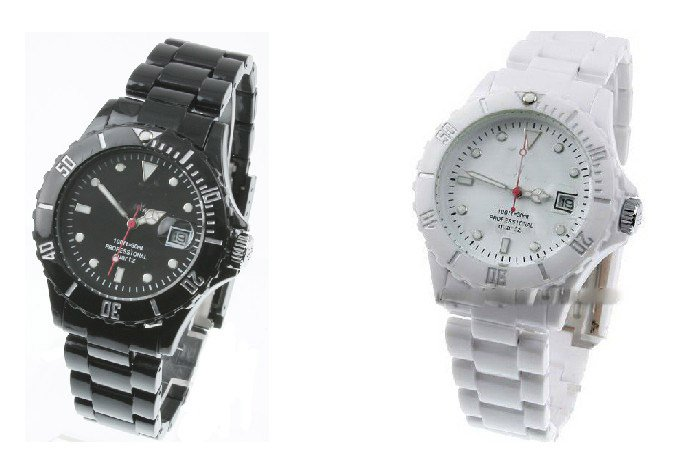 Women/Men's unisex Watches Plasteramic Watch with box(China (Mainland))