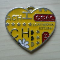 50 pcs/lot Free shipping enamel charm(heart)