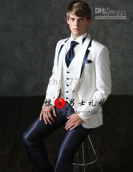 Bridegroom black tuxedo mens attire suit wedding suit dress Clothes Pants
