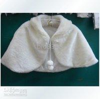 Bridal Shawl (2) New White Faux Fur Stole Shrug Bolero Coat