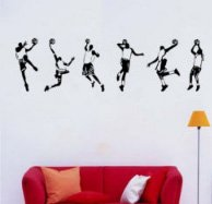 basketball Vinyl Home Wall Art Decal Sticke