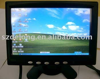 "7"" touch screen monitor LCD display rear view+Free shipping+12 Months Guarantee"