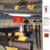 Free Shipping(1pcs) Traditional Handmade Kobuse Tamahagane Katana Sword With Top Level Saya&Fitting