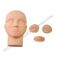 Permanent makeup practice mannequin head training head model head 2 pcs  free shipping