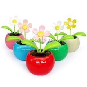 30pcs/lot  LOTS NEWEST FLIP FLAP SOLAR FLOWER SOLAR PLANT SWING ,car accessories , gift for car