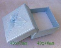 Blue Box. Jewelry Box.Ring Box. Earrings Box. Cardborad box. Free Shipping