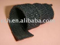 "2/5"" 10mm Black Hook and Loop Velcro Cable tie"