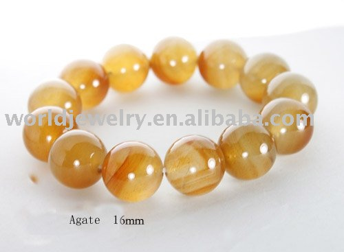 Free shipping accept natural Agate Bracelet(China (Mainland))