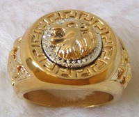 Men Jewelry; Men's Ring; 18K Yellow Gold GP ;Lion's Head Ring.free shipping;can mix