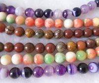 Beads.Agate Beads.Fashion Beads.Free shipping. Colorful agate round beads.