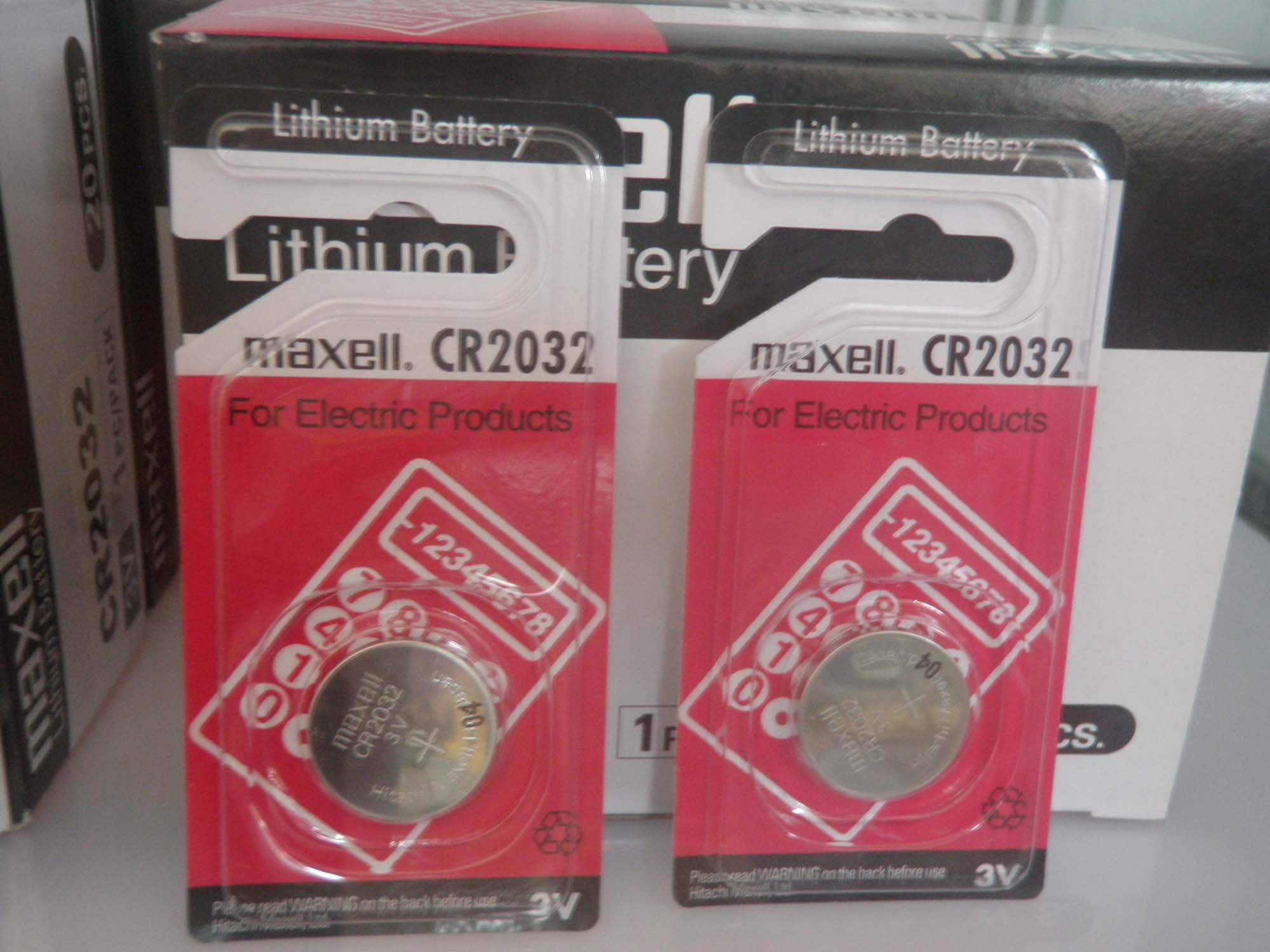 20pieces Lot,brand Maxell CR2032 3V, button cell Li-ion batteries, long life(China (Mainland))