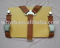 fashion leather suspenders with airplane fashion buckle
