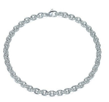 Fashion Jewelry 925 sterling silver Round Link chain necklace Best price ever, no Qty. limit, 10-day delevery