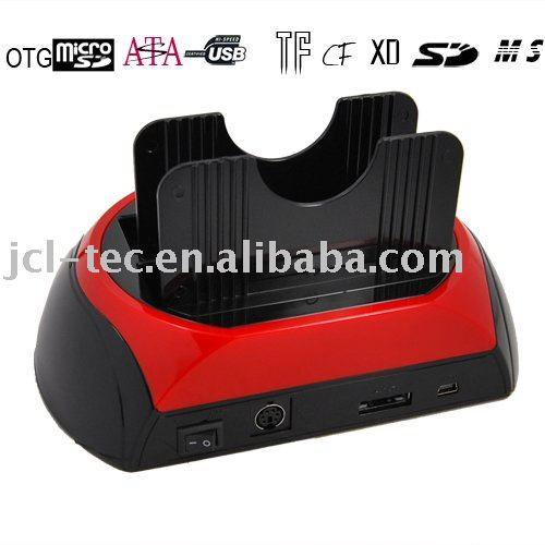 USB2.0 Dual bay (IDE+SATA) HDD Docking Station +ESATA+Card Reader(China (Mainland))