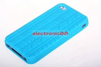 wholesale- Free shipping+F009 tire design soft silicon cell phone case for iphone 4G 30pcs/lot