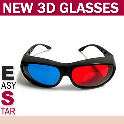FREE SHIPPING!!! 100PCS/A LOT/Elegant Design Red+Blue Anaglyphic 3D Glasses(China (Mainland))