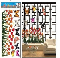 Decorative DIY Home Decor,Butterfly and Flowers Wall Stickers, Windows Decals, HL906