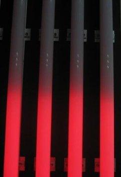 DMX RGB LED digital tube, AC80-260V input, 144pcs led,16pcs IC,18W,IP65 with aluminum base,milky white tube