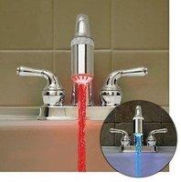 brand new generation LED lights FreeShippng 12pcs fourth-generation Advanc Metal faucet automatic