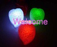 33pcs/lot Colorful Heart-shape Rose Decoration Romantic LED Light Led Candles +Gift & Free Shipping