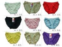 wholesale 100pc/lot Ms. underwear, cotton / Lycra cotton,Women Briefs (multicolor mixed wholesale)