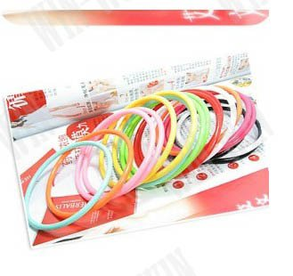 FREE SHIPPING Multi-color Fashion Bangle(China (Mainland))