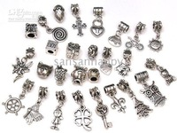Wholesale - Authentic tibet Silver beads charms Fit chamilia biagi Bracelet mix style 400pcs by ems