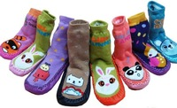 Boston/slippery floor leather shoes and socks household    interior shoes 9.9 /0-5 years  pcs  free shipping