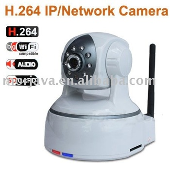 Paypal Free Shipping Two way audio H.264 wireless security camera Support SD Card Visit by Cell phone