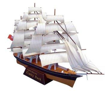 [Alice papermodel]cuttysark sailing ship model boat model