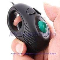 Portable Finger Hand Held 4D USB Mini Trackball Mouse, Free Shipping!