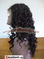 "Cheap kanekalon hair 18"" Curly #4 Synthetic lace wig"