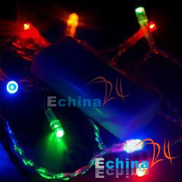 Mini Multi Color 10 LED Fairy lights Battery power Wedding Xmas Party Hot Wholesale and Free Shipping 100 pcs(China (Mainland))