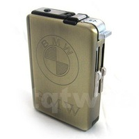 New Stainless Stees Cigarette Smoke Case Lighter Dispenser+free shipping