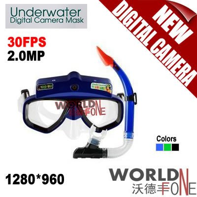 FREE SHIPPING!!! BRAND NEW 4G UNDERWATER SCUBA DIVING MASK WATERPROOF HD DIGITAL CAMERA VIDEO RECORD 1280*960,30FPS (WF-UC16)(China (Mainland))