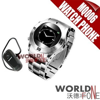 Wholesale - FREE SHIPPING!!! MQ006 Cell Phone Quadband Watch Mobile Phone with Bluetooth+2G TF 20pcs (WF-MQ006) [Worlfone]