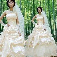 fashion bridal wedding dress silk lady gown princess  temperamental dress