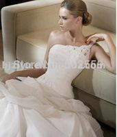 new design A-line one shoulder high quality bridal wedding dress