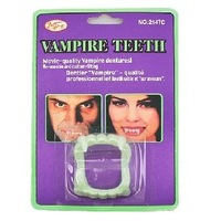 Free Shipping 10pcs Fright Vampire Teeth Green Halloween Joke