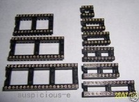 8 14 16 18 20 28+24 32 40 PIN DIP IC SOCKETS 50 CHIP