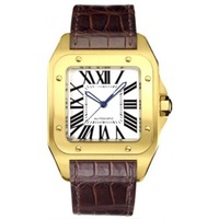 NEW ARRIVAL Santos Yellow Gold and Steel Mens Watch W20071Y1